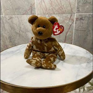 Hero Beanie Babies Ty bear NWT - tag error